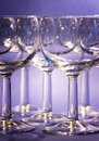 Wineglasses on Purple Stock Photos