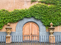 Winery entrance doors Royalty Free Stock Photo