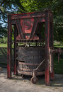Winery machine a typical traditional historical grape press in a in colchagua valley chile Stock Photo