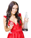 Winery Woman With Red Wine Glass And Decanter Royalty Free Stock Photo