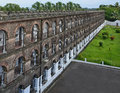 A wing cellular jail at port blair india andaman and nicobar islands the was built by british and was used as confinement for Stock Photo