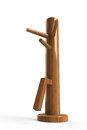 Wing chun wooden dummy this is a which used to practise or jeet kune do Stock Photos