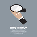 Wing mirror car parts Royaltyfri Foto
