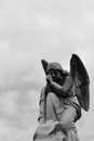 Winged Angel Sculpture Royalty Free Stock Photo