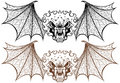 Winged Demons Stock Image