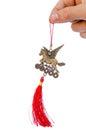 Winged feng shui horse amulet Royalty Free Stock Photo