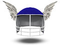 Winged Football Helmet Royalty Free Stock Photography