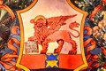 The winged lion of St. Mark's Republic, Venice, Italy. Royalty Free Stock Photo