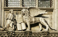 The winged lion of st mark statue close up Stock Photo