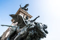 Winged lion statue at the Victor Emmanuel II Monument, Venice, Italy Royalty Free Stock Photo