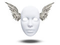 Winged mask on white Stock Photography