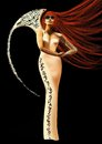Winged red-haired mannequin