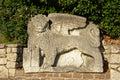 Winged venetian lion on the entrance of Trsat castle, Rijeka Royalty Free Stock Photo
