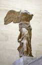 Winged victory of samothrace or nike in the louvre museum paris Royalty Free Stock Photography
