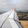 Winglet on an Airbus A319-100. EasyJet Airline Royalty Free Stock Photos