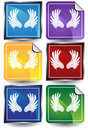 Wings - 6 Sticker Royalty Free Stock Photography