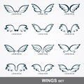 Wings collection set of Royalty Free Stock Images