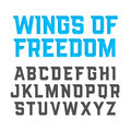Wings Of Freedom modern style font