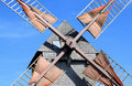 Wings of french wooden mill Pelard near Bouville Stock Photography