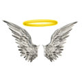 Wings Halo Royalty Free Stock Photo