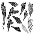 Wings set Royalty Free Stock Photo