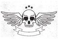 Wings skull logo