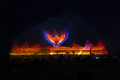 Wings of time show in Singapore Royalty Free Stock Photo