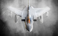 Fighter jet in flight