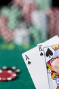 Wining Poker hand Royalty Free Stock Photos
