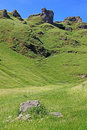 Winnats Pass near Castleton in Derbyshire. Royalty Free Stock Photo