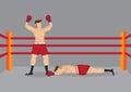Winner Boxer In Boxing Ring Ve...