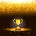 Winner cup with spark rain vector illustration Royalty Free Stock Image