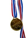 Winner medal golden color toy close up Royalty Free Stock Image