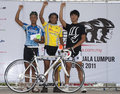 The Winner of OCBC Cycle Malaysia 2011 Stock Photo