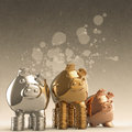 Winner piggy bank as concept Stock Photos