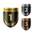 Winner's shield Royalty Free Stock Photography