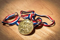 Winners gold medal Royalty Free Stock Image