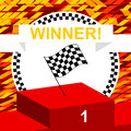 Winners podium first place champion vector illustration Royalty Free Stock Image