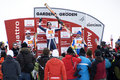 Winners Podium - Fis World Cup Stock Images