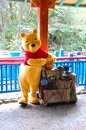 Winnie the pooh leading character from posing for pictures in animal kingdom orando Royalty Free Stock Images