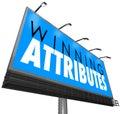 Winning Attributes Sign Billboard Successful Traits Qualities
