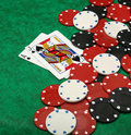 A winning blackjack hand Stock Photo