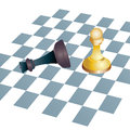 Winning chess concept business metaphors king Royalty Free Stock Photography