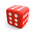 Winning dice licky red with six on each side Royalty Free Stock Photo