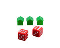 Winning dices concept objects isolated on white background Royalty Free Stock Photo