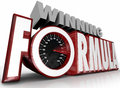 Winning Formula 3d Words Speedometer Best Strategy Royalty Free Stock Photo