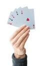 The winning hand Royalty Free Stock Photo