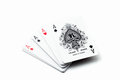 A winning poker hand of four aces Royalty Free Stock Photo