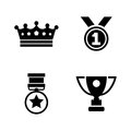 Winning. Simple Related Vector Icons