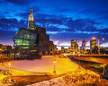 Winnipeg Museum at night Royalty Free Stock Photo